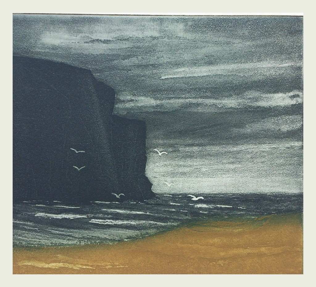 Anne Russell - 'Rackwick Bay' - Etching