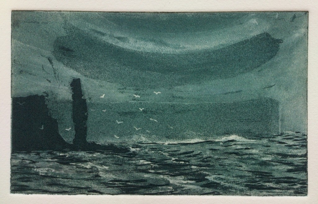 Anne Russell - 'The Old Man' 15x8cm etching